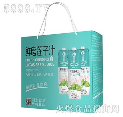 莲爽鲜磨莲子汁1Lx3盒
