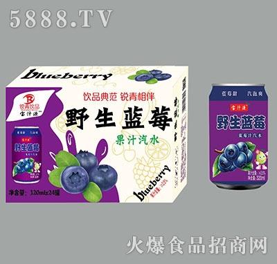 宝汁源野生蓝莓蓝莓汁汽水320mlx24罐