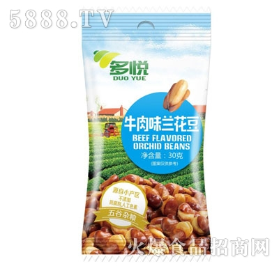 多悦牛肉味兰花豆30g产品图