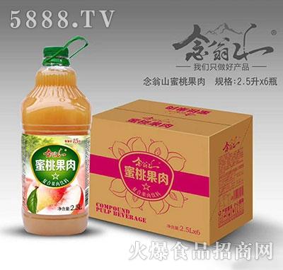念翁山蜜桃果肉果汁2.5Lx6