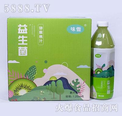 味傲益生菌猕猴桃汁果汁饮料1.25L×6瓶