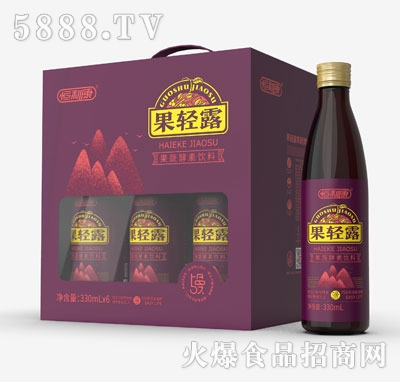 果轻露果蔬酵素饮料330mlX6