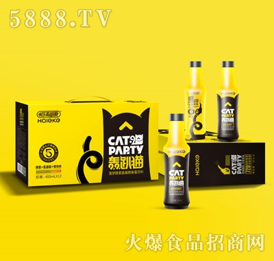 轰趴猫菠萝酵素氨基酸能量饮料400mlX12