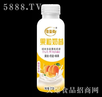 合益优果粒奶昔黄桃+燕麦+椰果酸奶饮品310g