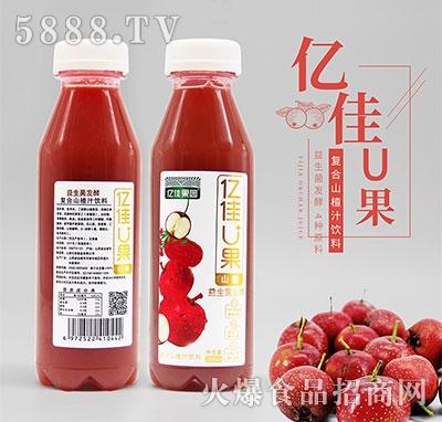 亿佳U果复合山楂汁380ml