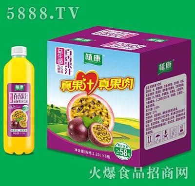 植康益生菌百香果汁1.25Lx6