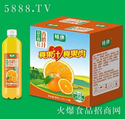 植康益生菌香橙汁1.25Lx6