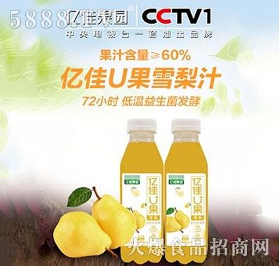 亿佳U果梨汁380ml