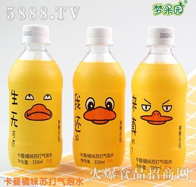 梦果园苏打气泡水卡曼橘味350ml