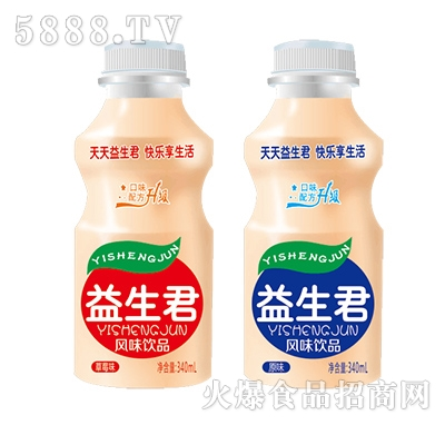 君味宝益生菌乳酸菌风味饮品原味340ml