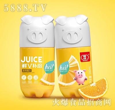 旺仔鲜V补给小猪果汁鲜榨橙汁复合果汁饮料280ml