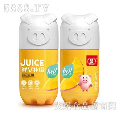 旺仔鲜V补给小猪果汁鲜榨芒果汁复合果汁饮料280ml