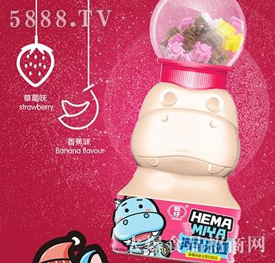 旺仔河马米娅复合蛋白质饮料草莓味200ml
