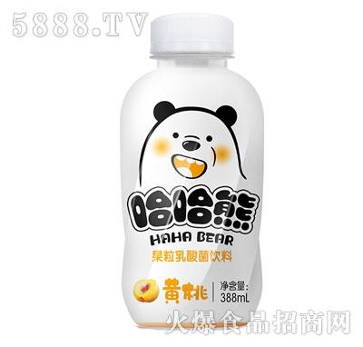 哈哈熊黄桃果粒乳酸菌饮料380ml