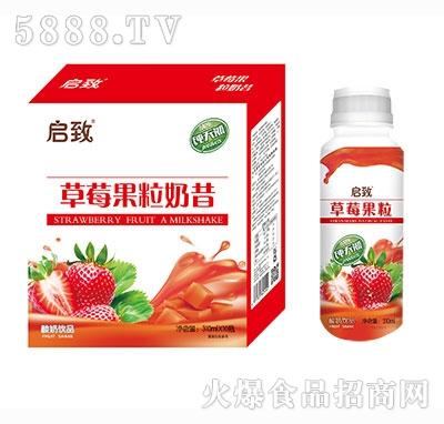 启致草莓桃果粒酸奶310ml×10瓶