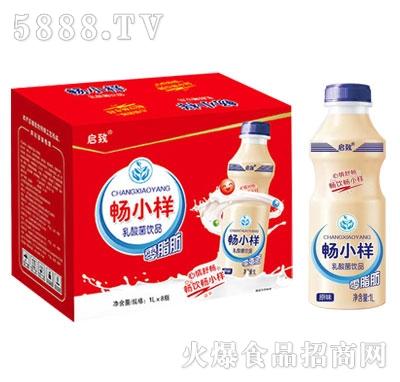 启致畅小样乳酸菌饮品原味1L×8瓶
