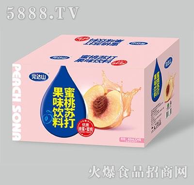 完达山蜜桃苏打果味饮料400ml×24瓶