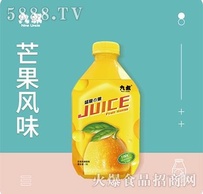 九叔芒果汁风味饮料1Lx8瓶件