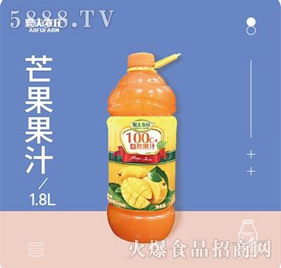 奥夫农庄芒果果汁1.8Lx6瓶箱