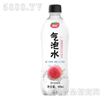 鲜绽蜜桃味苏打气泡水480ml
