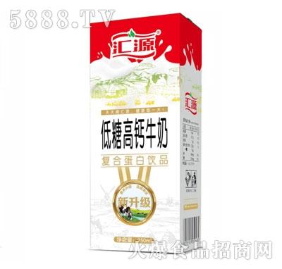 汇源低糖高钙牛奶复合蛋白饮品250ml(盒)