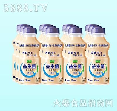 万君乐益生菌乳酸菌风味饮品原味340ml(塑包)