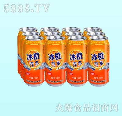 鑫锐青冰橙汽水碳酸饮料500ml(多罐)