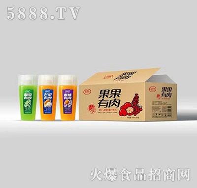 花花牛果果有肉果汁饮料420ml×15瓶