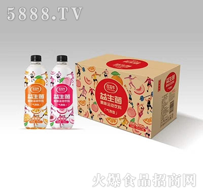 花花牛益生菌果味运动饮料气泡型500ml×15瓶
