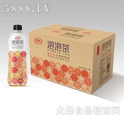 花花牛泡泡茶蜜桃乌龙茶味饮料500ml×15瓶