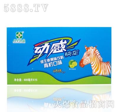 八星食品维生素果味饮料青柠口味600mlX15