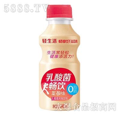 畅饮草莓味乳酸菌风味饮料340ml