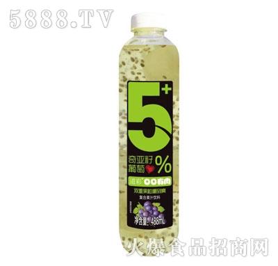 令德堂奇亚籽葡萄复合果汁饮料488ml