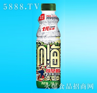东药食疗氨基酸营养素饮料青柠味458ml