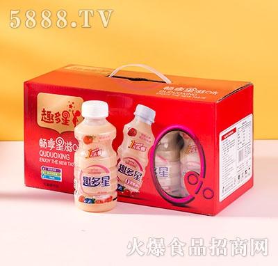 趣多星乳酸菌直饮草莓味340ml礼盒