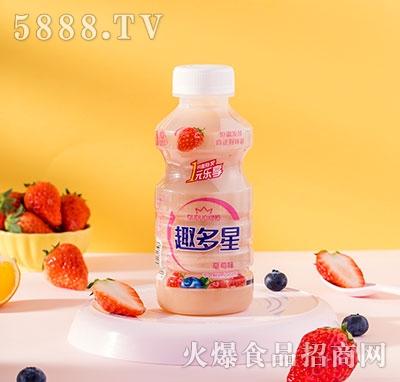 趣多星乳酸菌直饮草莓味340ml