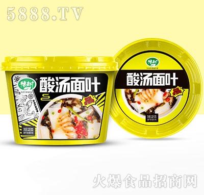 豫树酸汤面叶紫菜虾米味