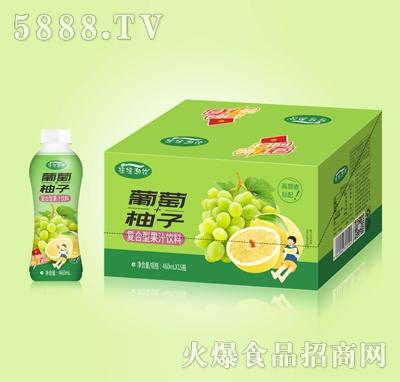 摇摇潮饮葡萄+柚子复合果汁460mlX15