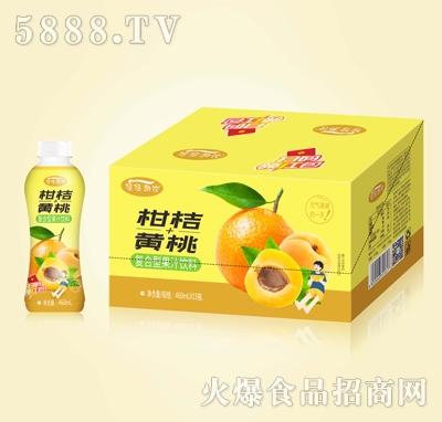 摇摇潮饮柑桔+黄桃复合果汁460mlX15