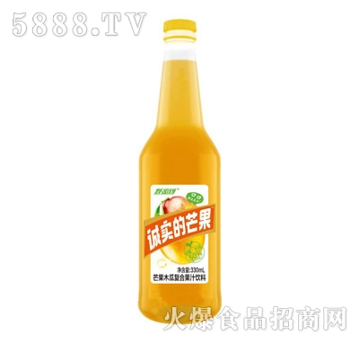 野密码益生菌芒果复合果汁饮料330ml