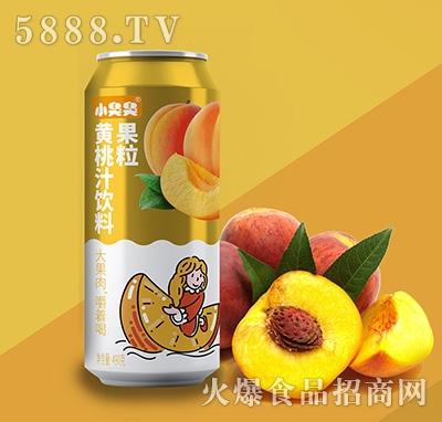 小臭臭果粒黄桃汁饮料490ml