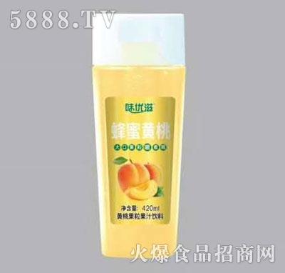 味优滋蜂蜜黄桃果汁饮料420ml