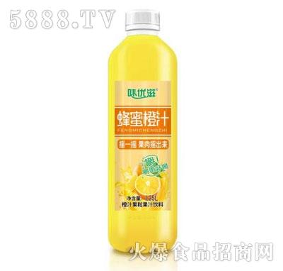 味优滋蜂蜜橙汁果汁饮料1.25L