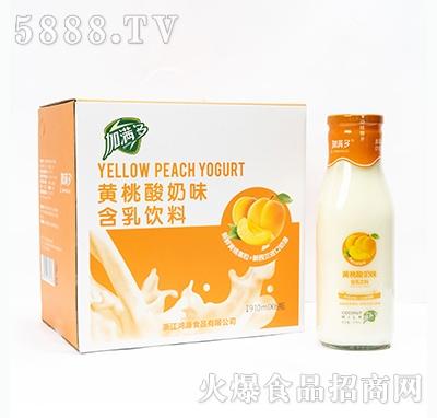 加满多黄桃酸奶味含乳饮料910mlx6瓶
