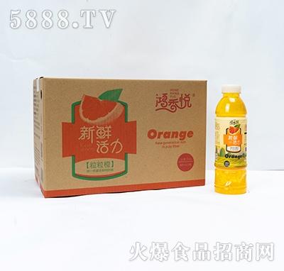 鸿香悦新鲜活力粒粒橙饮料600mlx15瓶