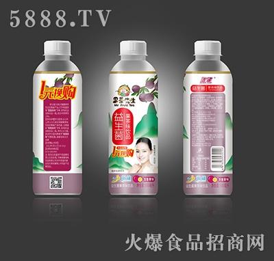 增健果茶先生益生菌果茶味饮品百香果味600ml