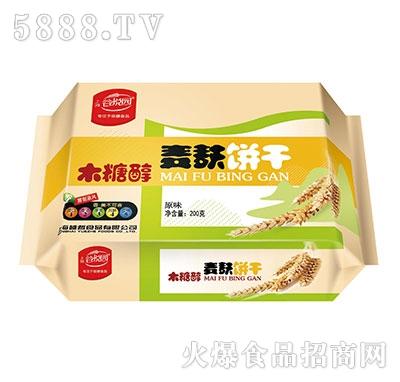 谷悦园麦麸饼干原味200克产品图