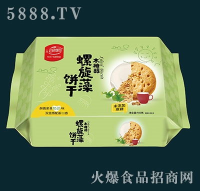 谷悦园螺旋藻饼干奶油味480克产品图