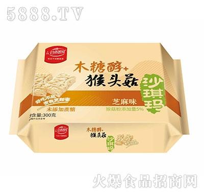 谷悦园猴头菇沙琪玛芝麻味300克产品图