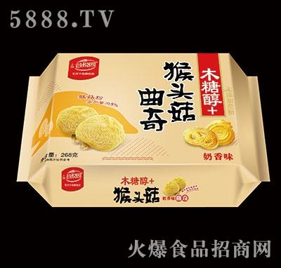 谷悦园猴头菇曲奇奶香味268克产品图